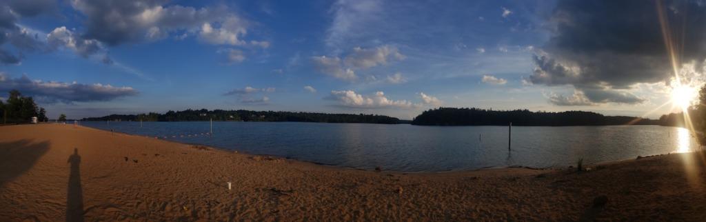 Sunset over Lake James