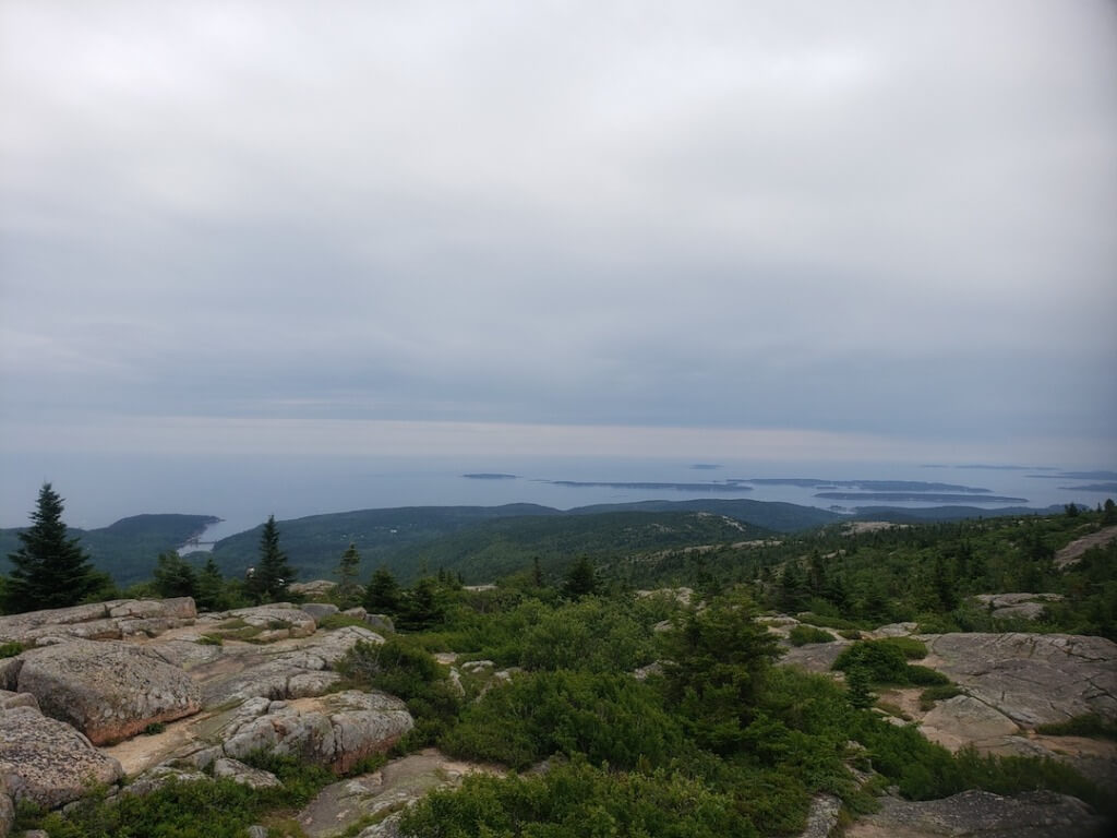 View From The Top of Cadillac Mountain in Acadia National Park