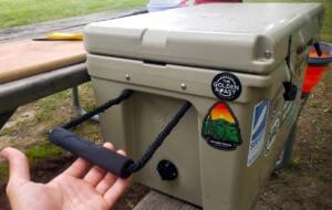 RTIC 45 quart hard cooler handle