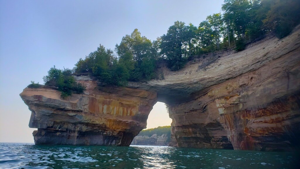 hiking upstate new york Rock Arch on Lake Superior in Pictured Rocks National Lakeshore