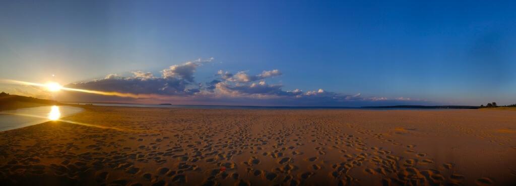 Sunset From the Beach in Au Train Michigan