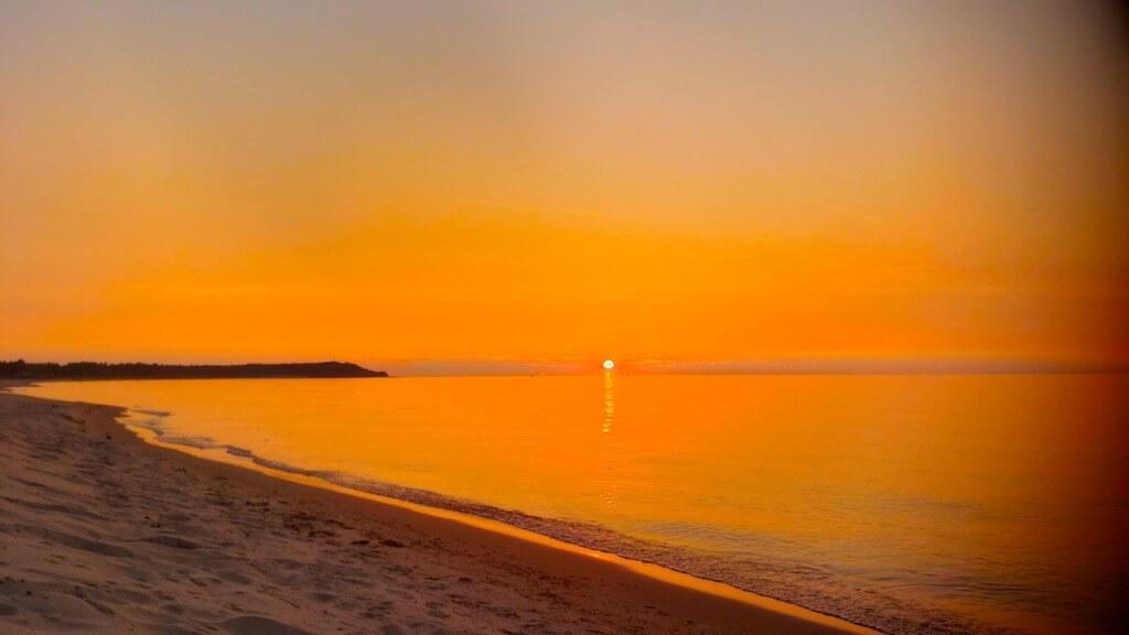 Sunset Over Lake Michigan from Sleeping Bear Dunes National Lakeshore