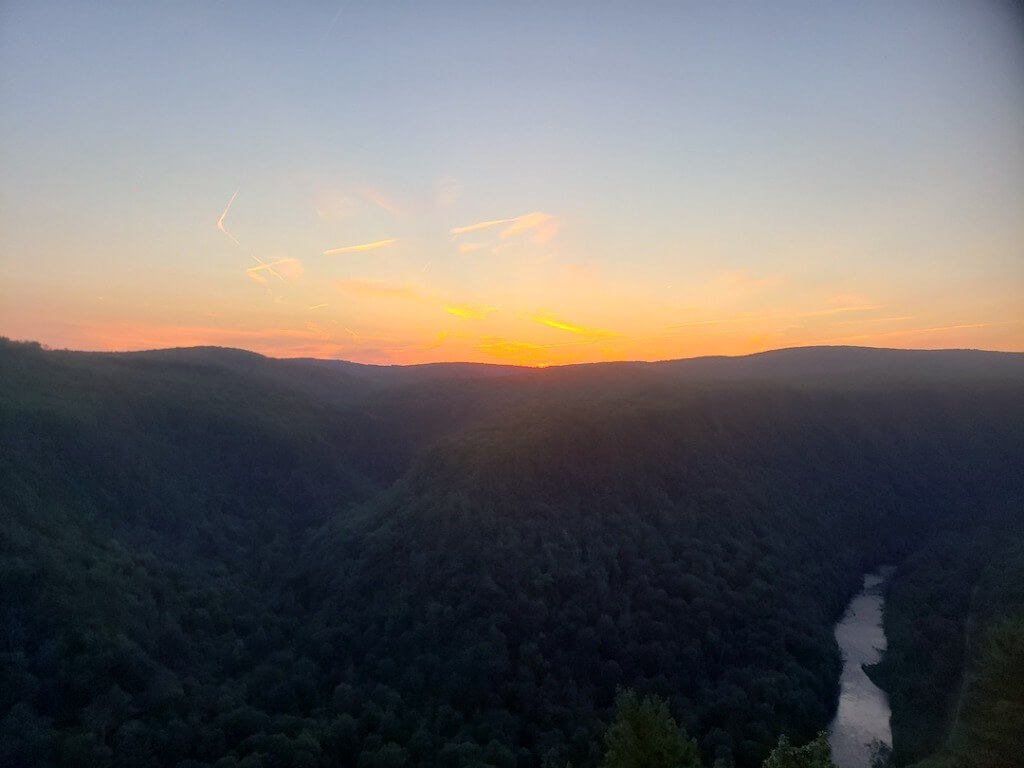 Sunset Over Pine Creek Gorge