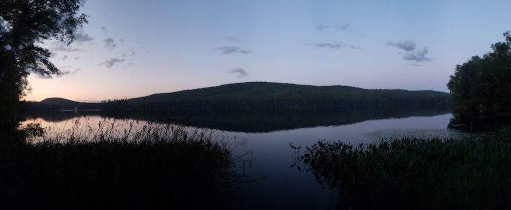 Sunset Over Ricker Pond