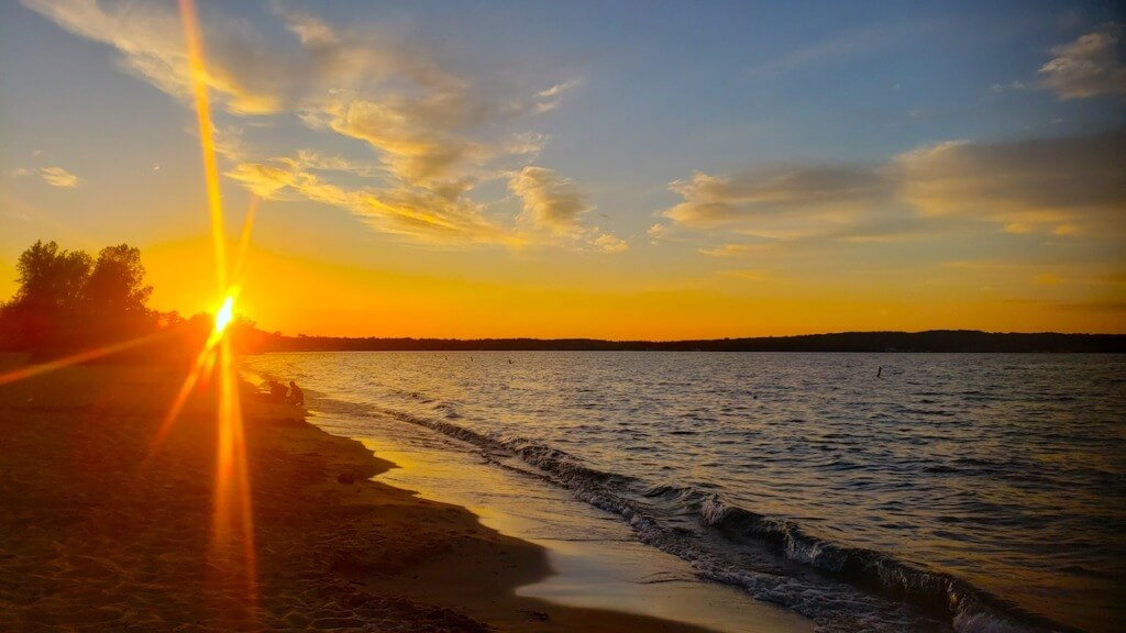 Sunset Over Traverse City Michigan