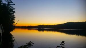 hiking upstate new york Sunset at Ricker Pond in Vermont