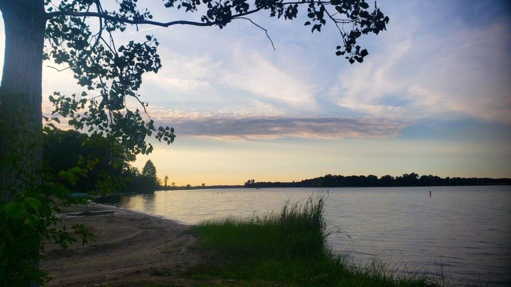 Sunset at Waterloo Recreation Area in Michigan